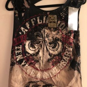 Brand new affliction tank with tags on it , love